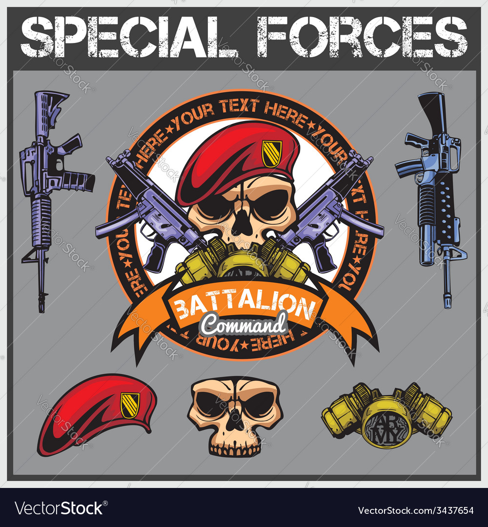 Special forces patch set - stock vector | Price: 1 Credit (USD $1)