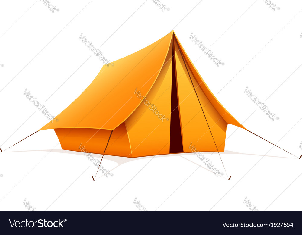 Touristic camping tent vector | Price: 1 Credit (USD $1)