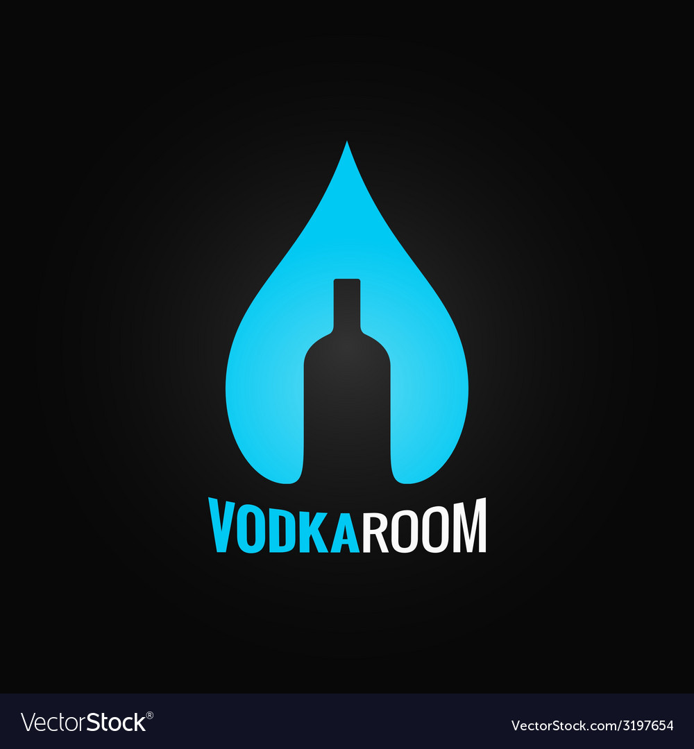 Vodka glass bottle drop background vector | Price: 1 Credit (USD $1)