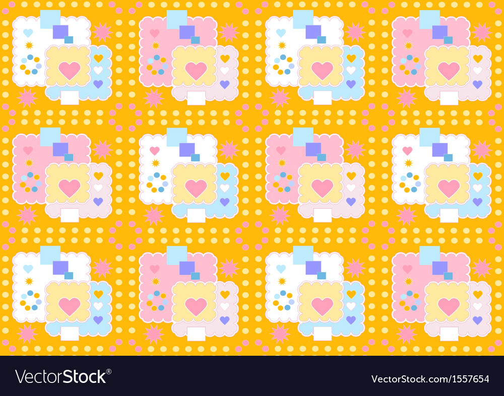 Yellow merry seamless background vector | Price: 1 Credit (USD $1)
