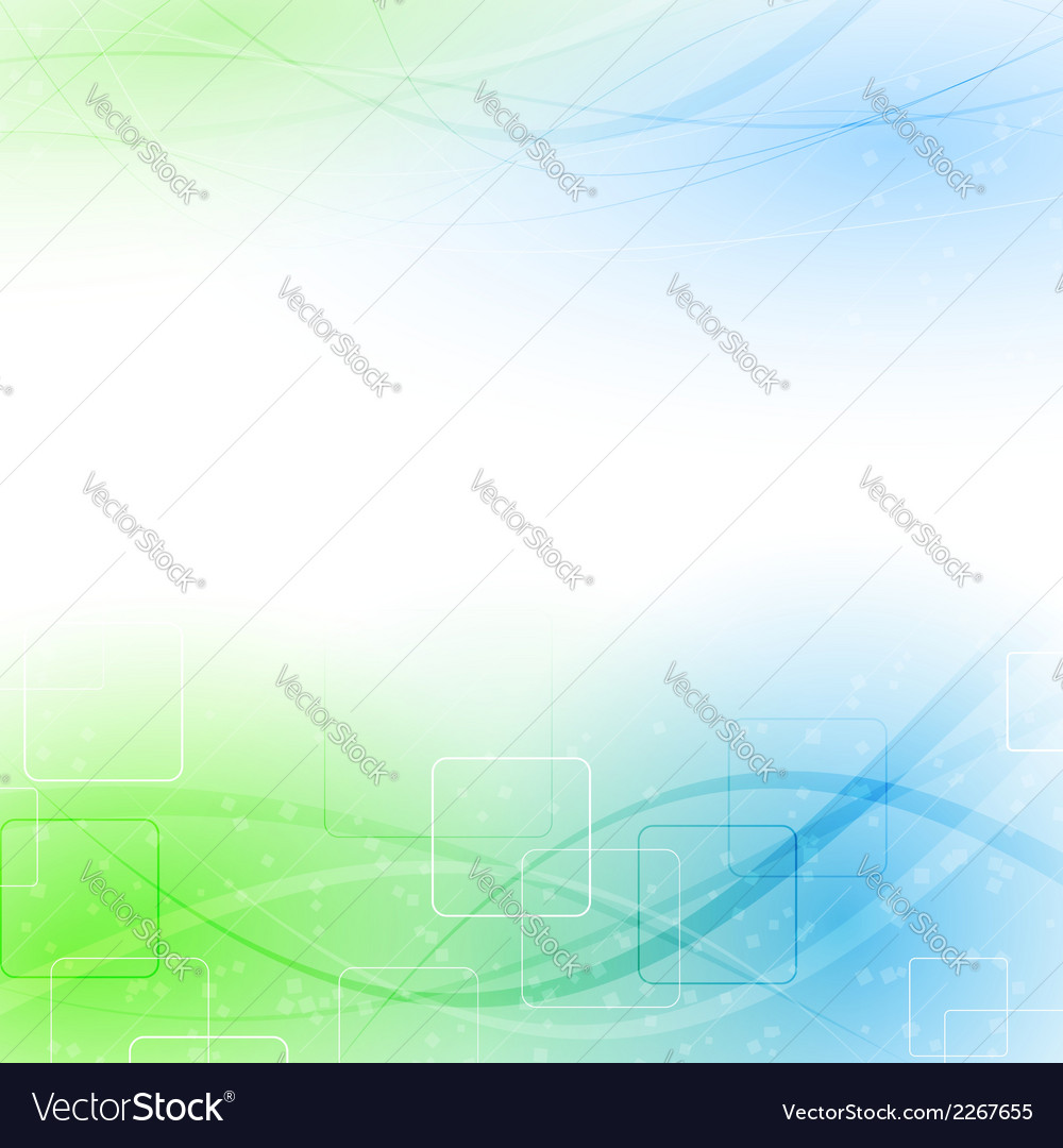 Abstract green blue particle wind vector | Price: 1 Credit (USD $1)