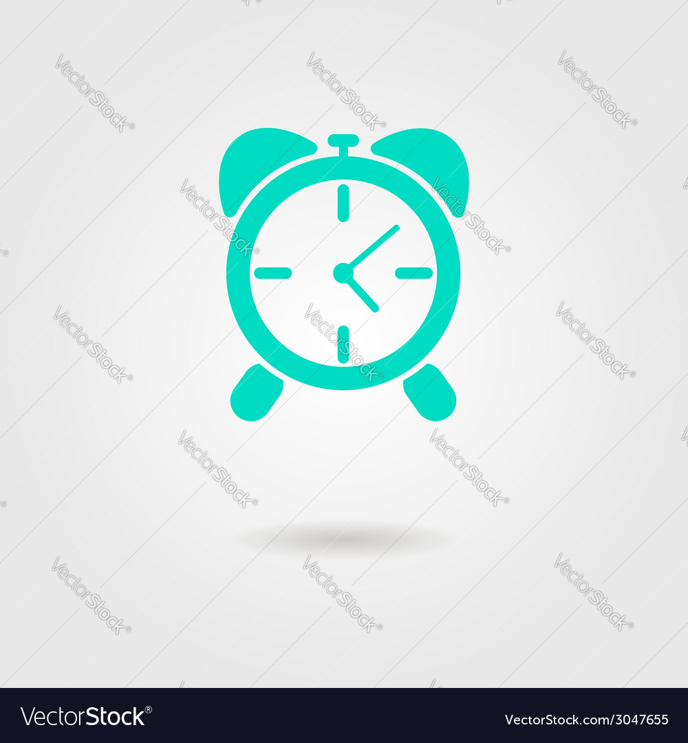 Alarm clock icon with shadow vector | Price: 1 Credit (USD $1)