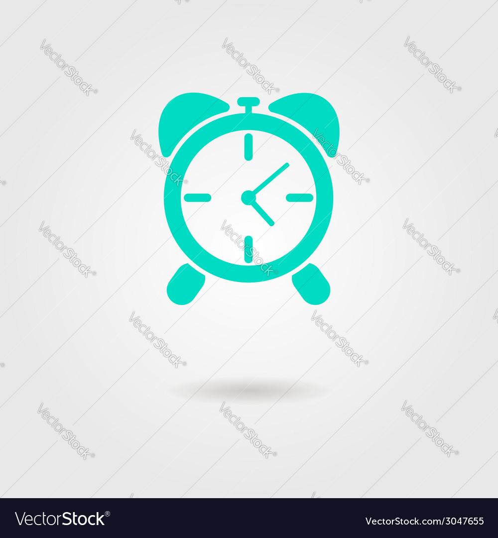Alarm clock icon with shadow vector   Price: 1 Credit (USD $1)
