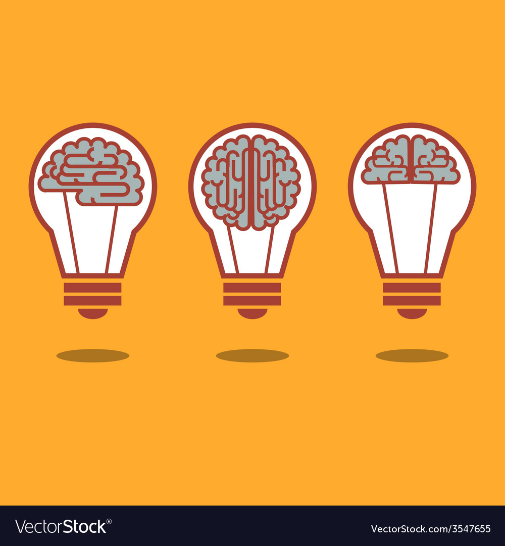 Brain and bulb light vector | Price: 1 Credit (USD $1)