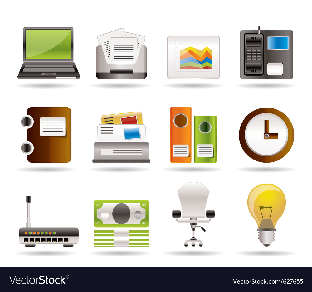 Business and office icons vector | Price: 3 Credit (USD $3)