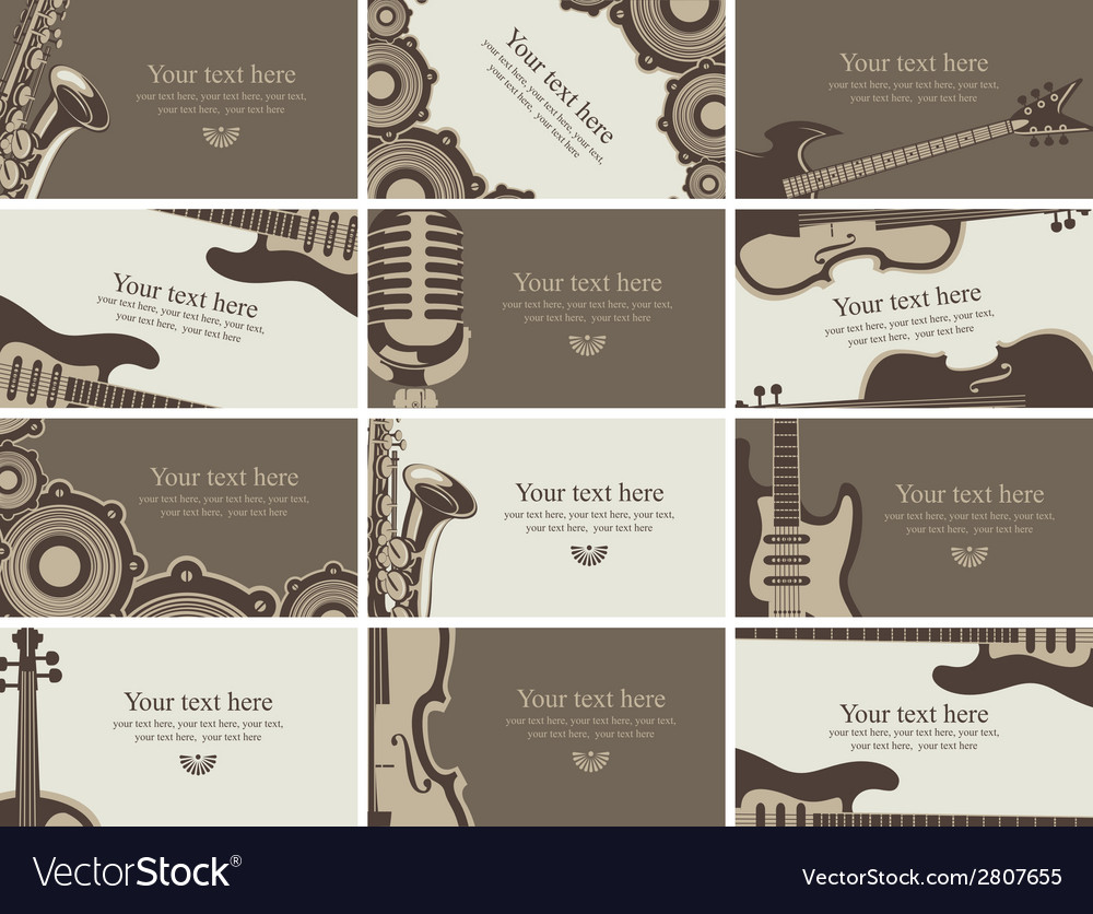 Business card music vector | Price: 1 Credit (USD $1)
