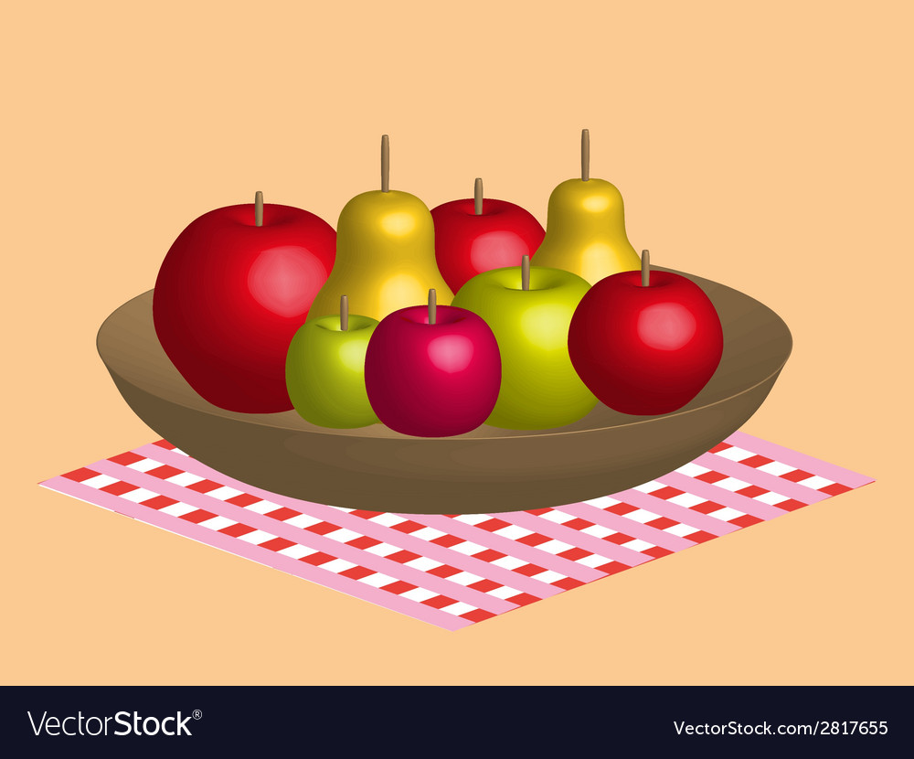 Fruit still life vector | Price: 1 Credit (USD $1)