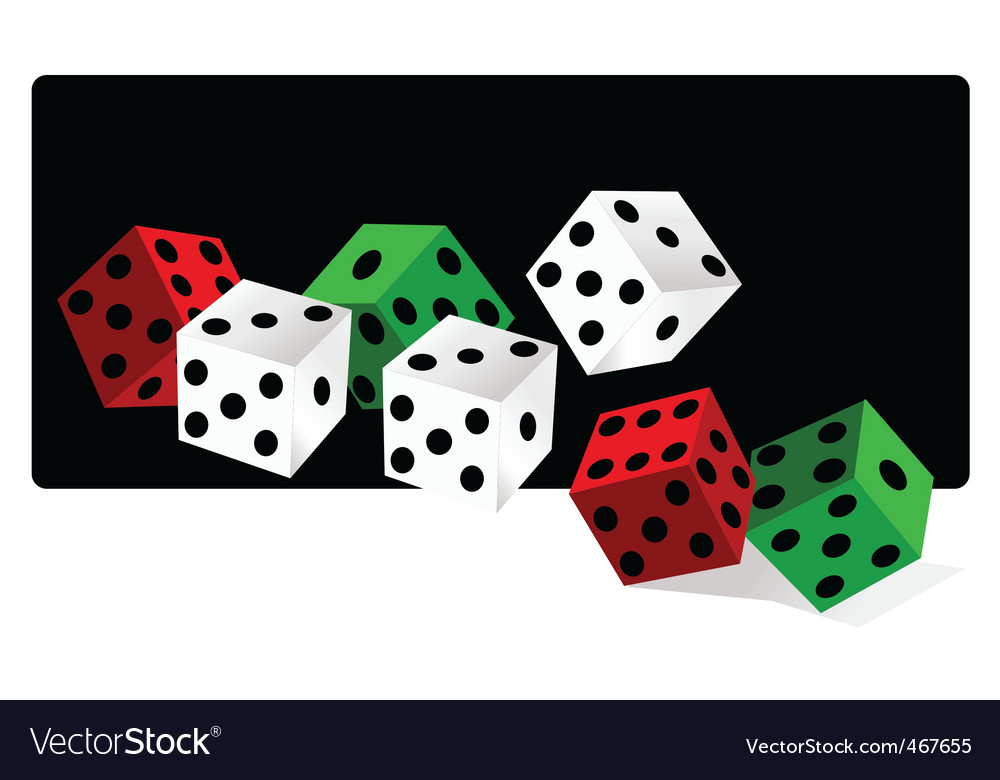 Gamble dice vector | Price: 1 Credit (USD $1)