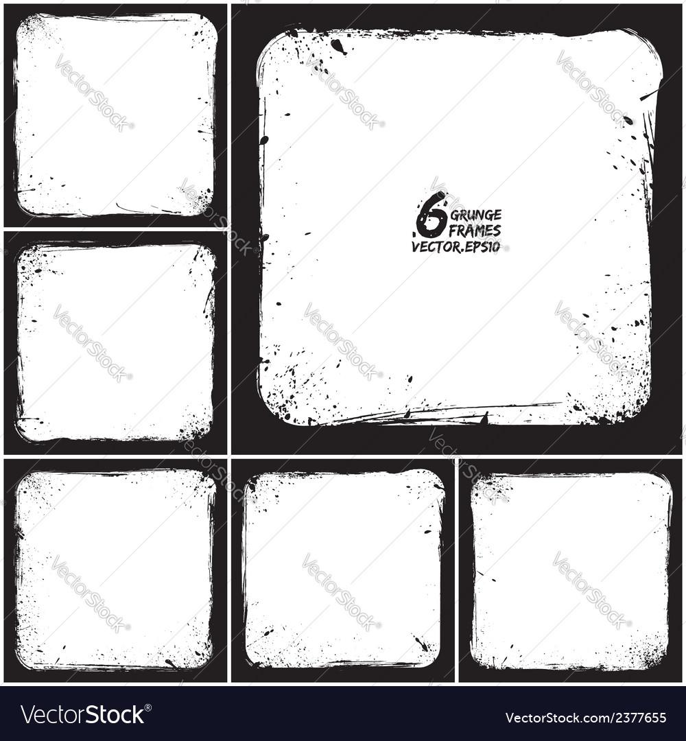 Grunge frames vector | Price: 1 Credit (USD $1)