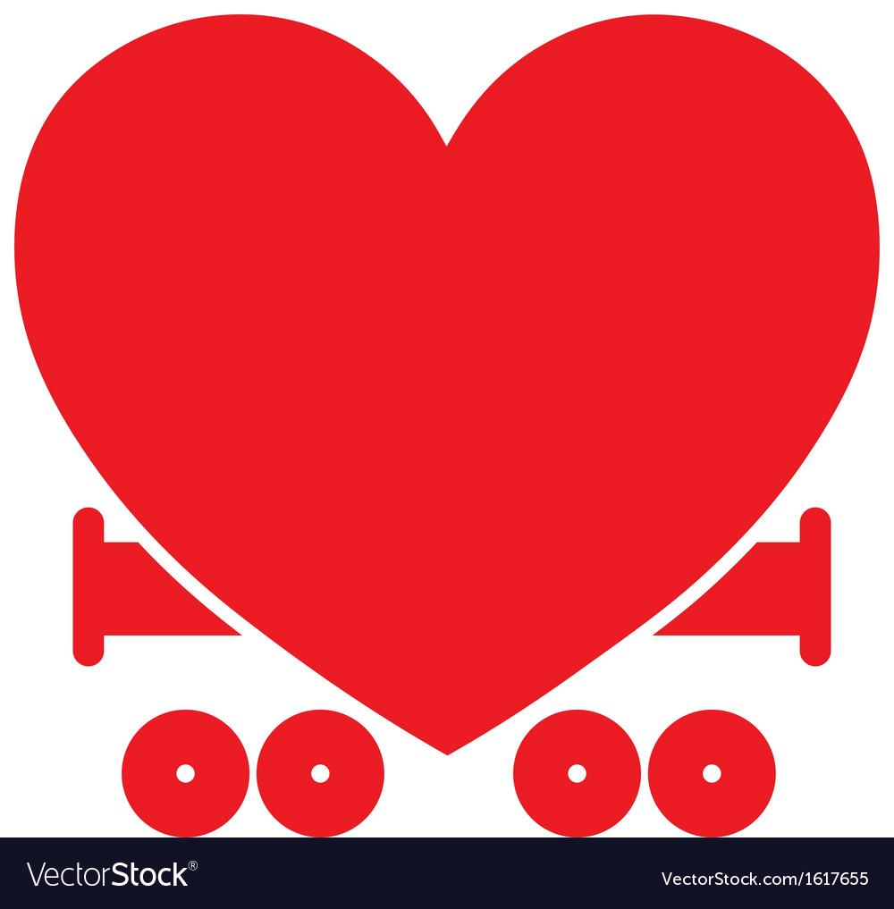 Heart train vector | Price: 1 Credit (USD $1)
