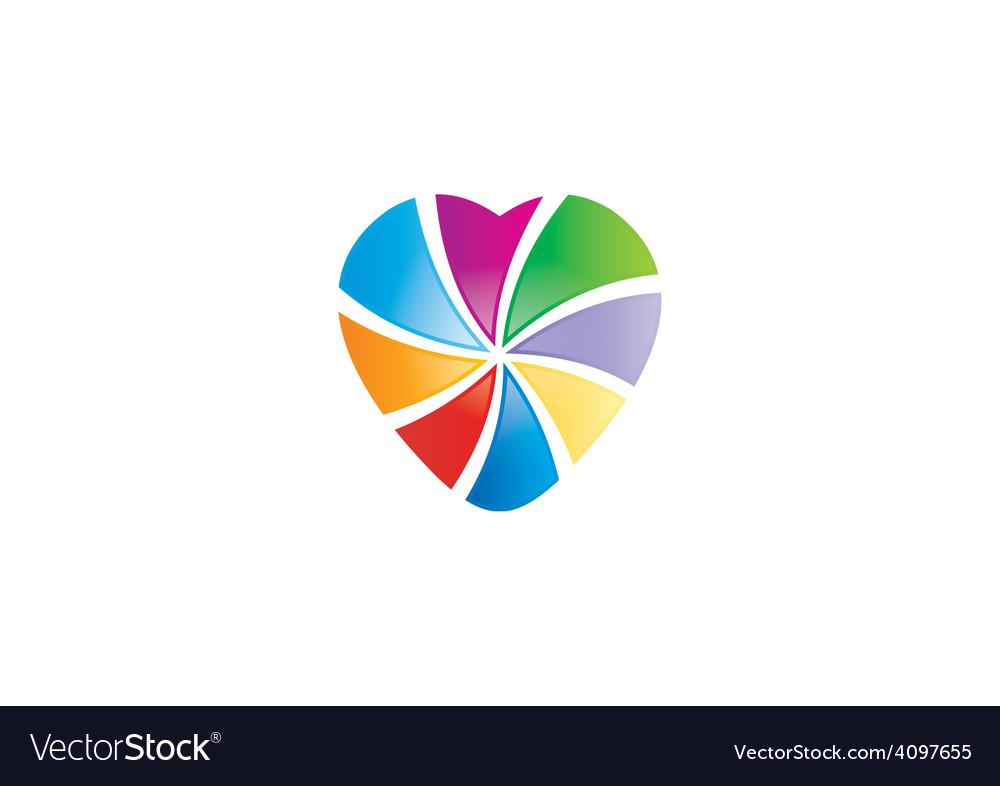 Love colorful shape logo vector | Price: 1 Credit (USD $1)