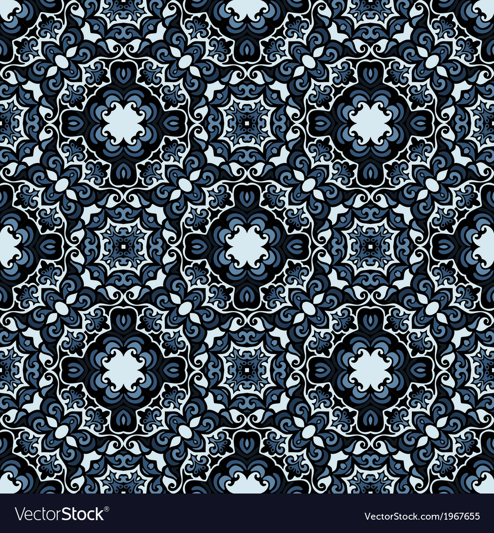 Moasic tiled oriental seamless pattern vector | Price: 1 Credit (USD $1)