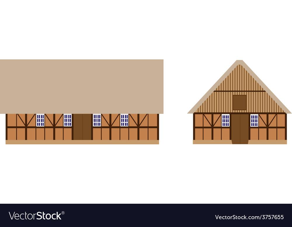 Old barns set vector | Price: 1 Credit (USD $1)