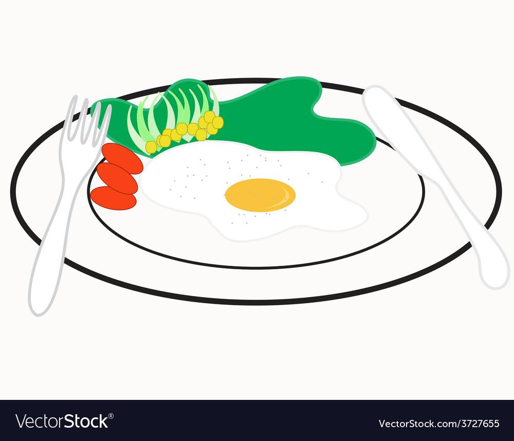 Omelet breakfast vector | Price: 1 Credit (USD $1)
