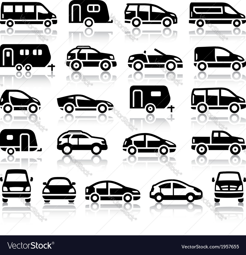 Set of transport black icons vector | Price: 1 Credit (USD $1)
