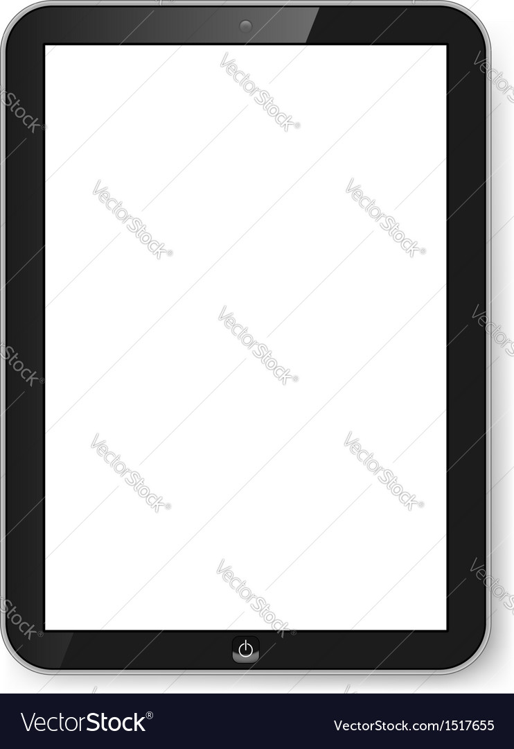 Tablet with blank screen vector | Price: 1 Credit (USD $1)