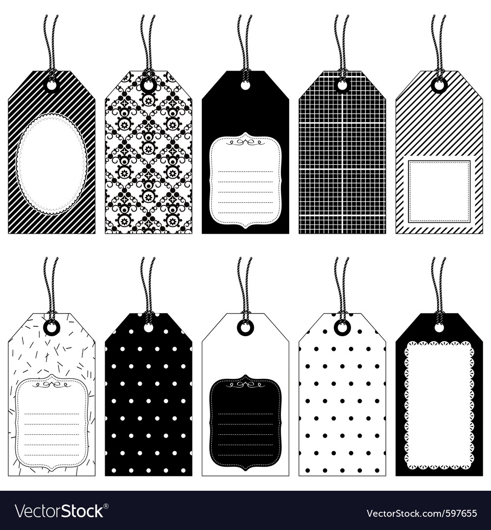Traditional tags vector | Price: 1 Credit (USD $1)