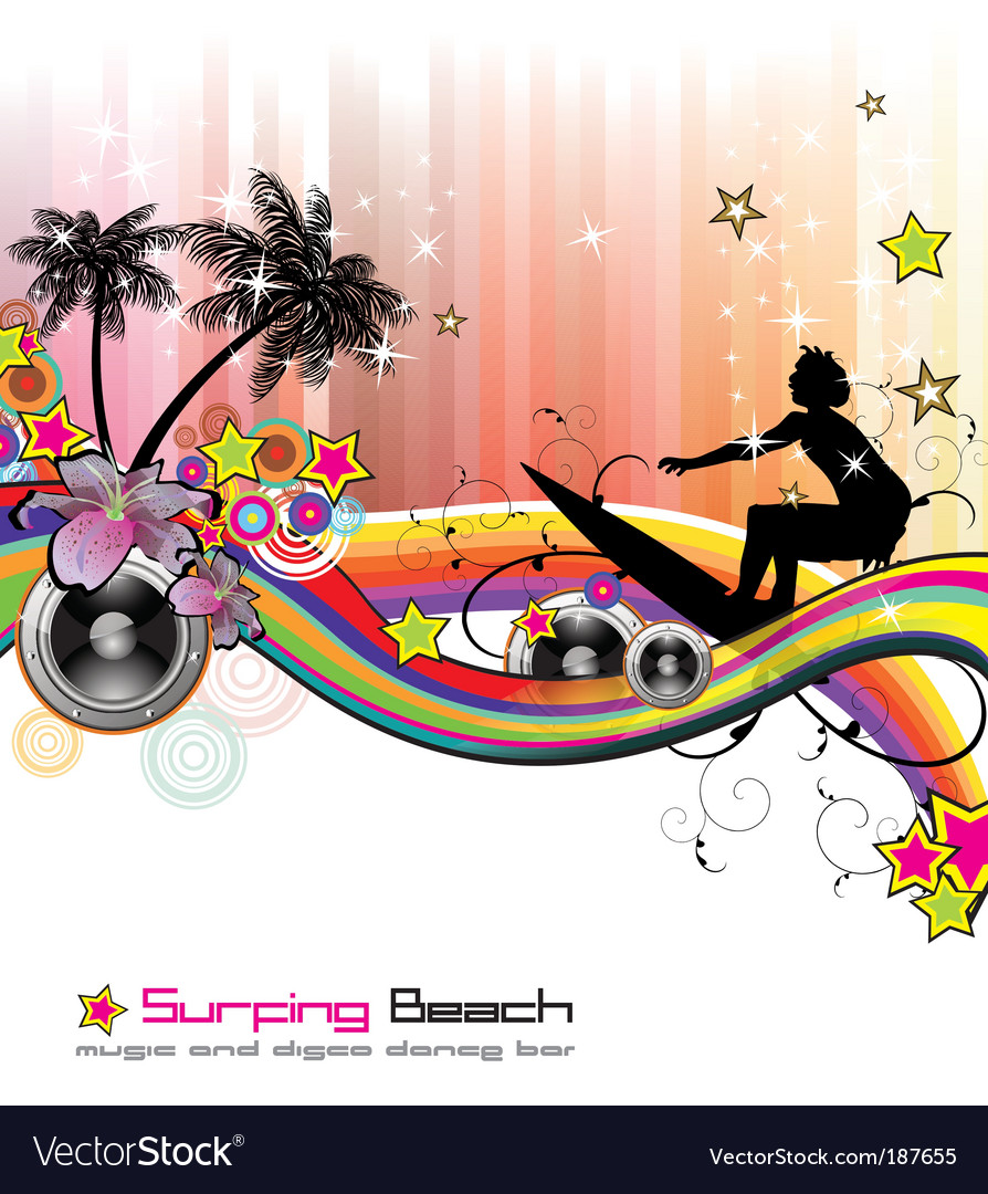 Tropical music event flyer vector   Price: 3 Credit (USD $3)