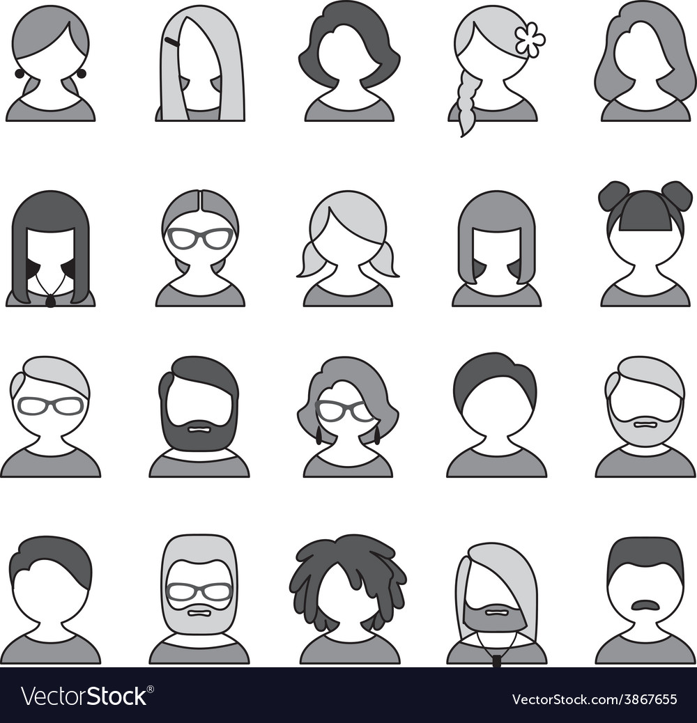 User icons vector | Price: 1 Credit (USD $1)