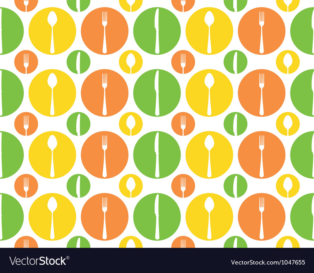 Vintage cutlery pattern vector | Price: 1 Credit (USD $1)