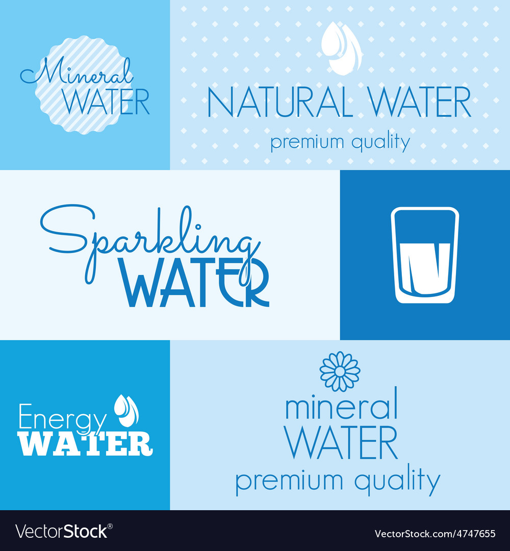 Water label resize vector | Price: 1 Credit (USD $1)