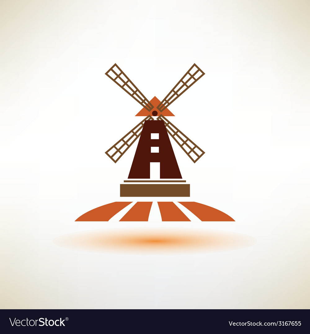 Windmill symbol agriculture concept vector | Price: 1 Credit (USD $1)