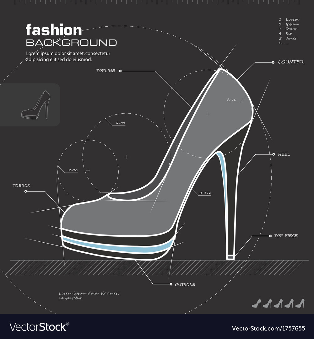 Woman shoe design vector | Price: 1 Credit (USD $1)