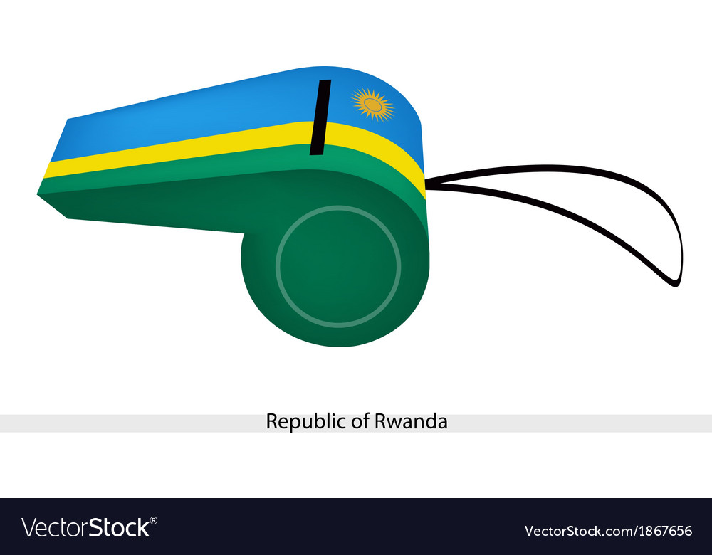 A whistle of the republic of rwanda vector   Price: 1 Credit (USD $1)