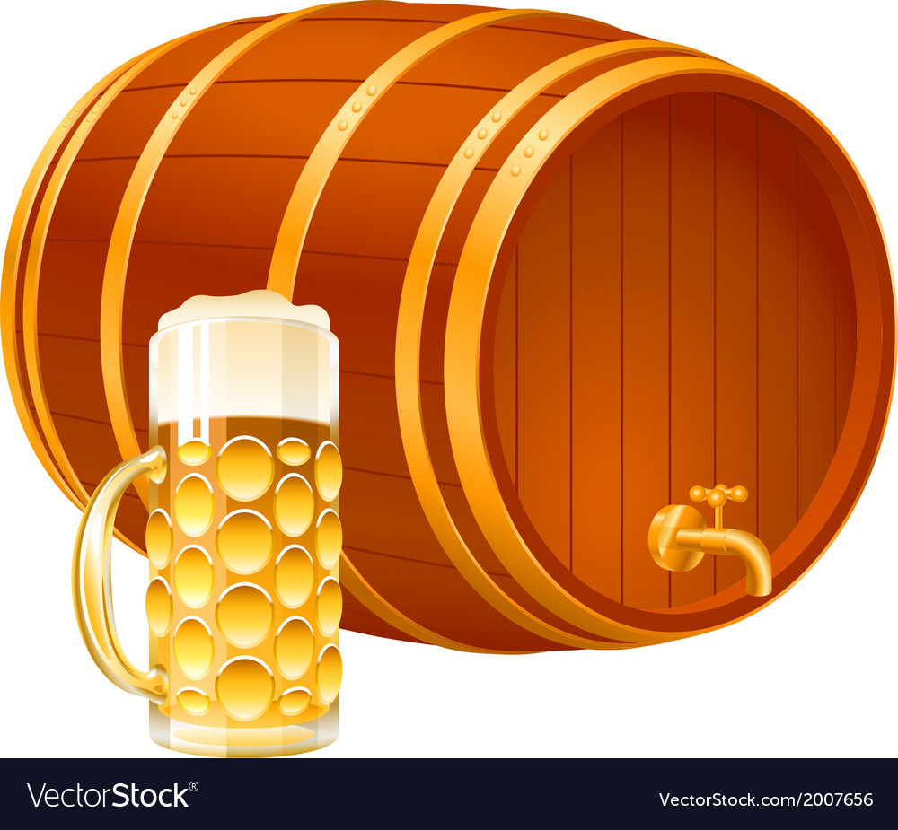 Barrel glass beer vector | Price: 1 Credit (USD $1)