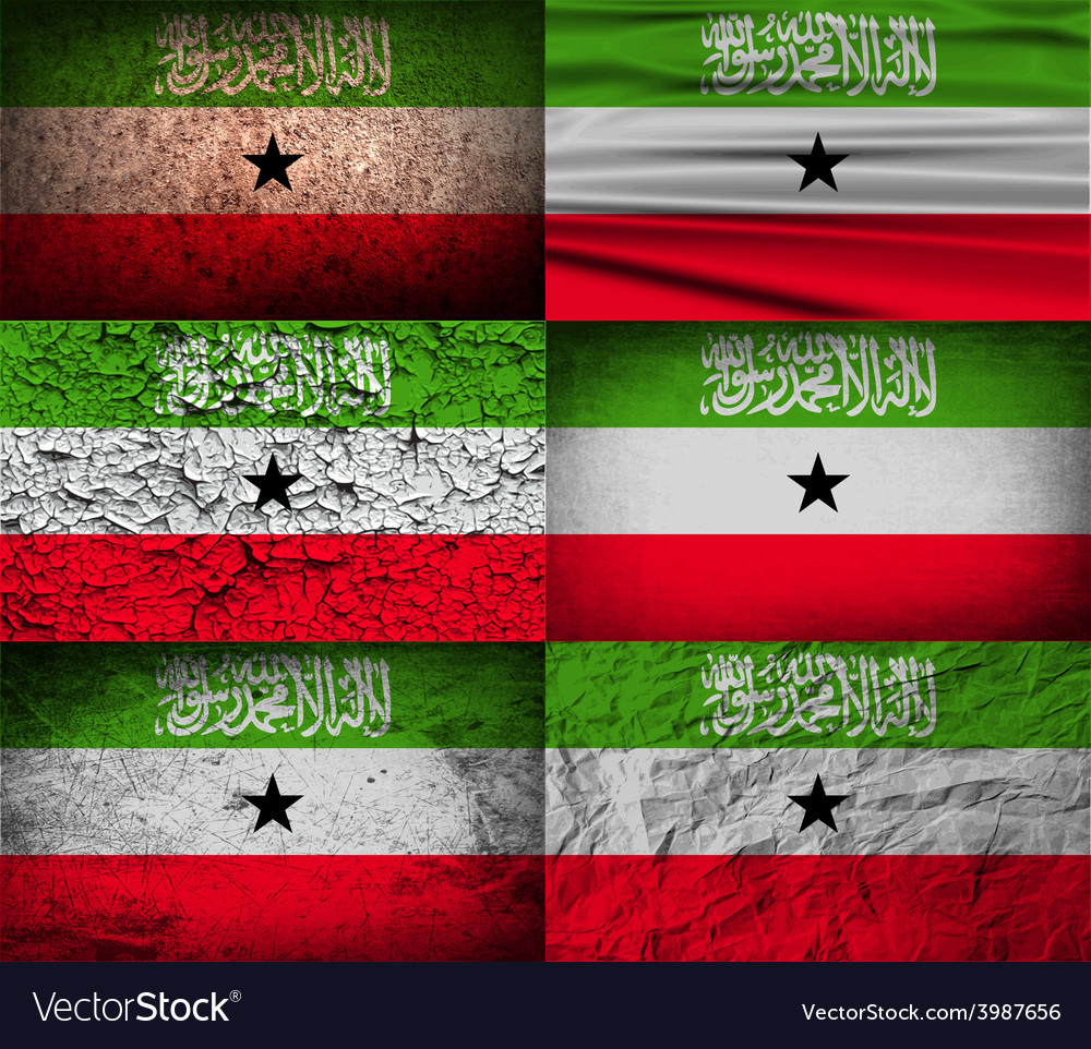 Flag of somaliland with old texture vector | Price: 1 Credit (USD $1)