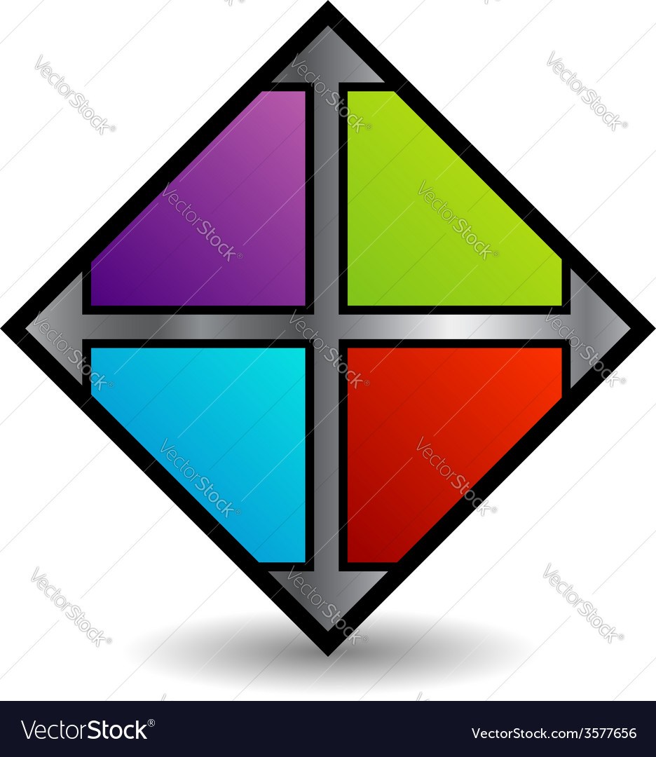 Floor tile business logo in multicolor vector | Price: 1 Credit (USD $1)