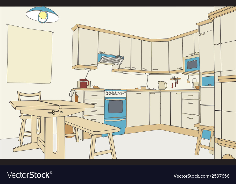 Kitchen color vector | Price: 1 Credit (USD $1)