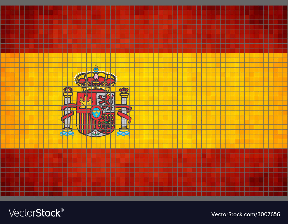 Mosaic flag of spain vector | Price: 1 Credit (USD $1)