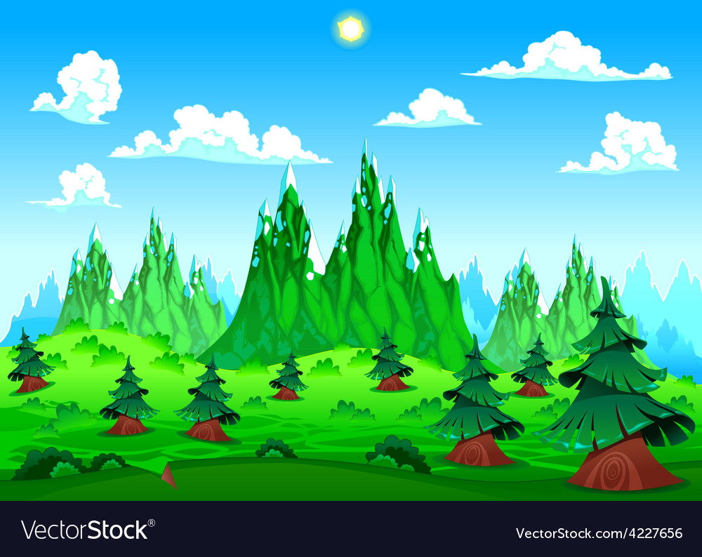 Mountain landscape vector | Price: 3 Credit (USD $3)