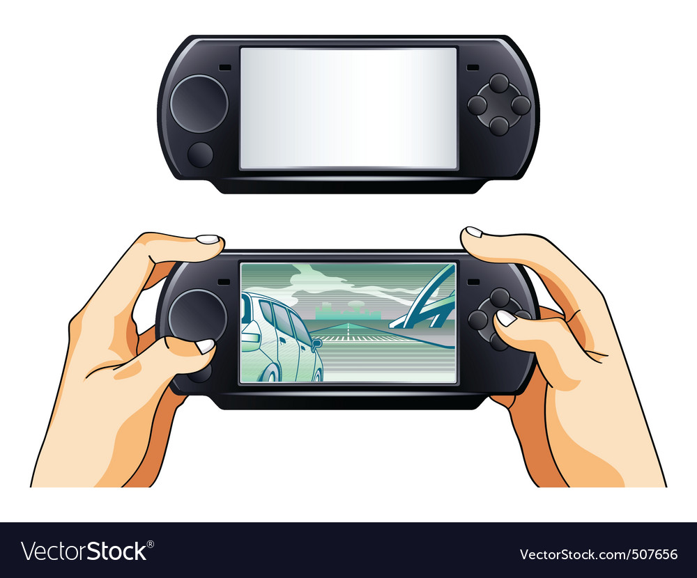 Portable gamepad vector | Price: 3 Credit (USD $3)