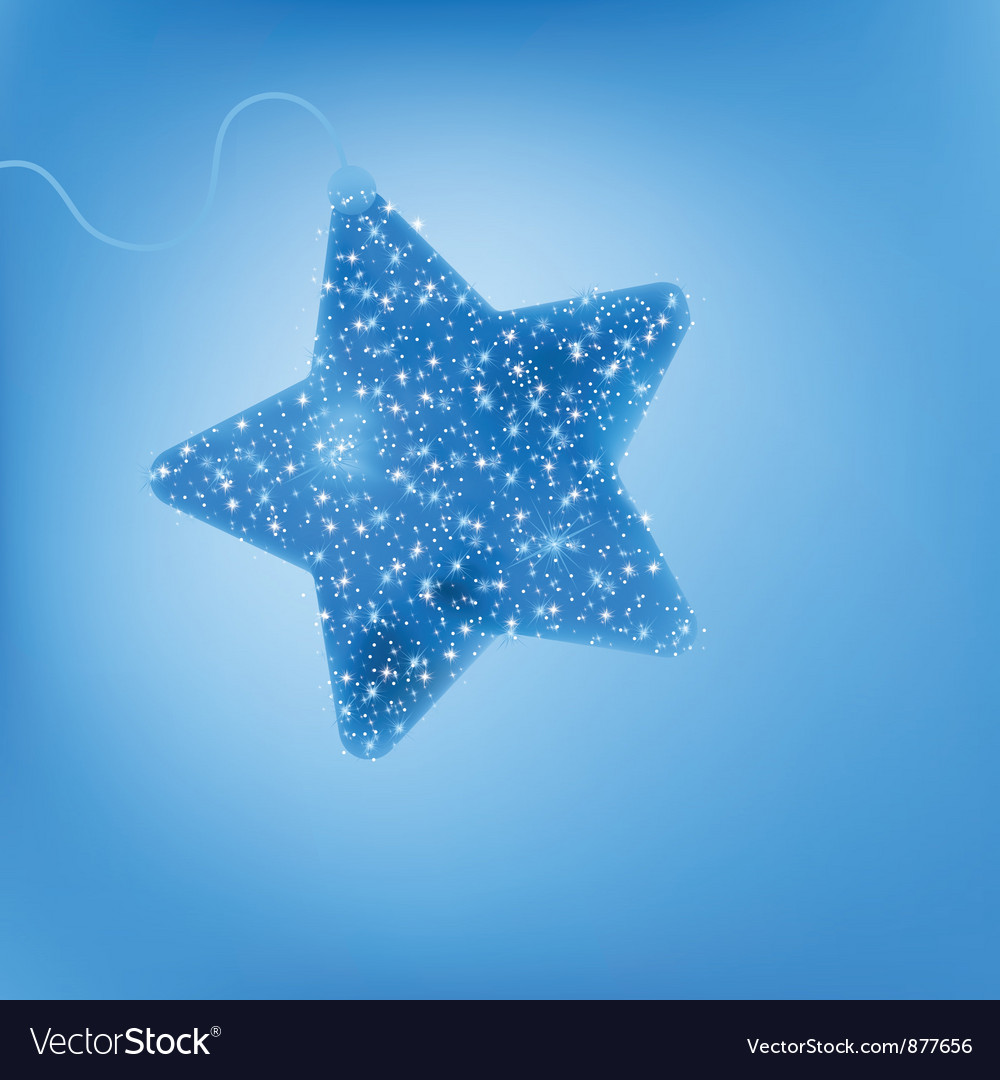 Twinkling blue star vector | Price: 1 Credit (USD $1)