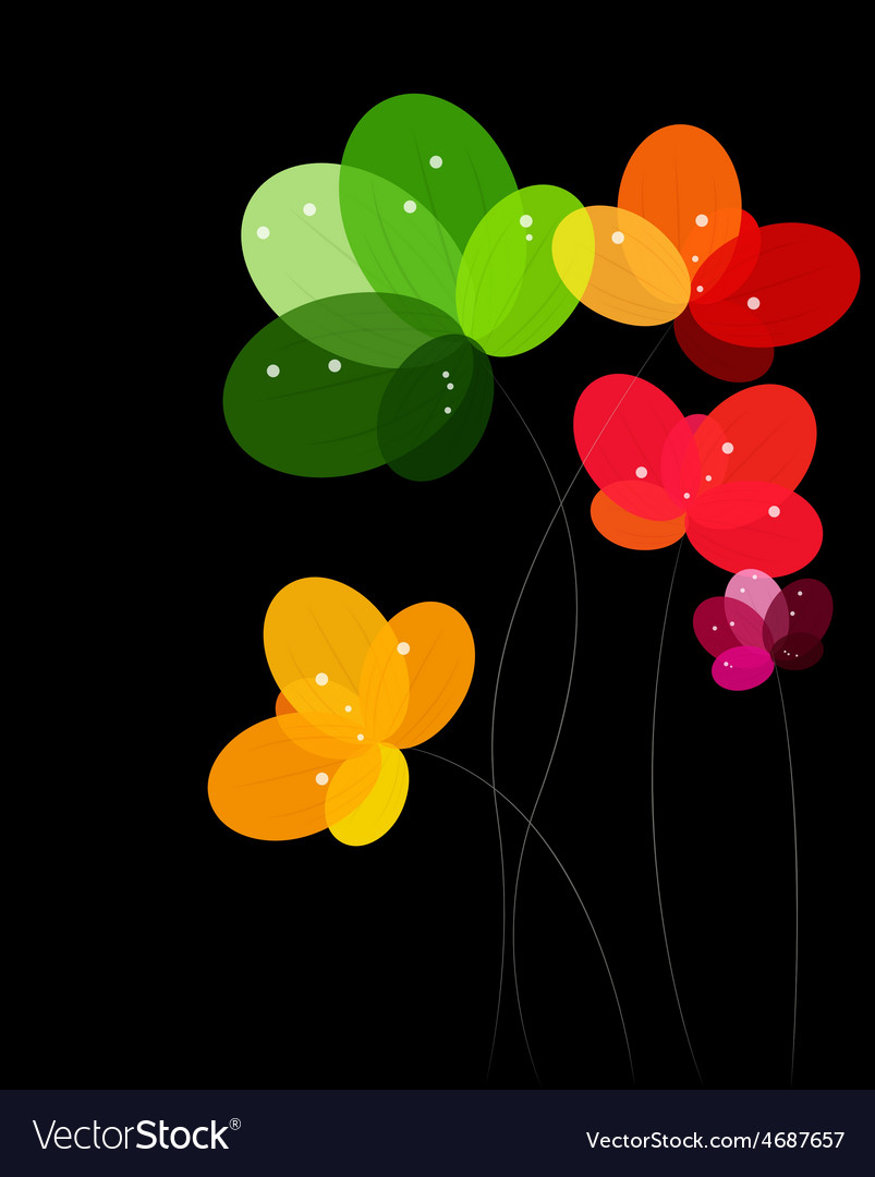 Abstract background with flowers vector | Price: 1 Credit (USD $1)