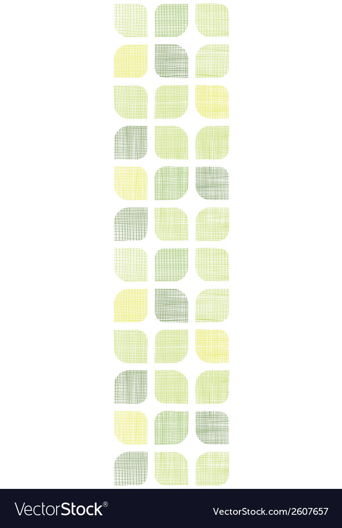 Abstract textile green rounded squares vertical vector | Price: 1 Credit (USD $1)