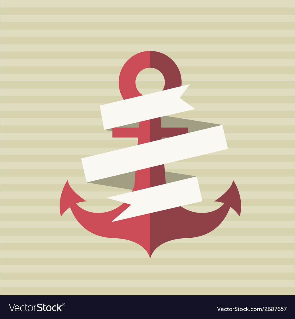 Card with an anchor and a tape vector | Price: 1 Credit (USD $1)