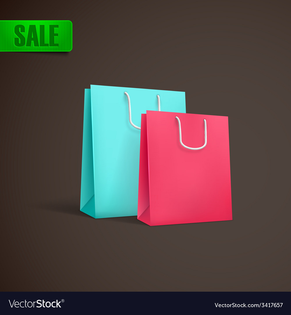Colorful shopping bags mock-up vector | Price: 1 Credit (USD $1)