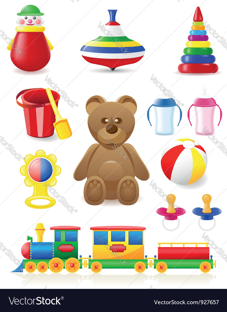 Icon of toys and accessories vector | Price: 3 Credit (USD $3)