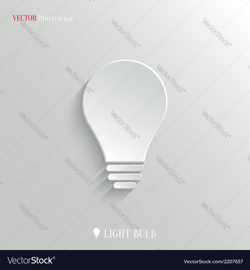 Light bulb icon - web background vector | Price: 1 Credit (USD $1)