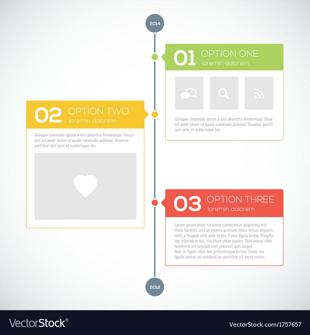 Modern timeline design template vector | Price: 1 Credit (USD $1)