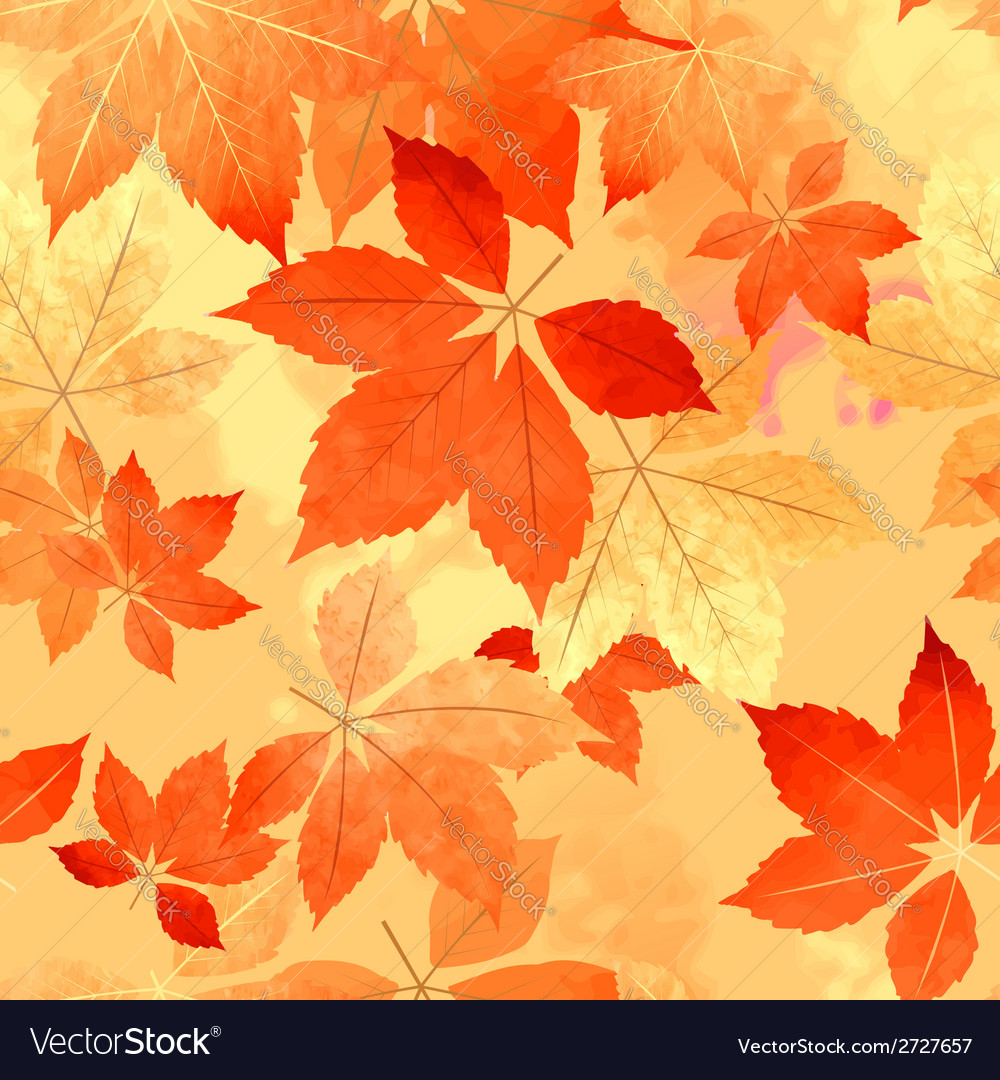Seamless autumn leaf fall pattern vector | Price: 1 Credit (USD $1)