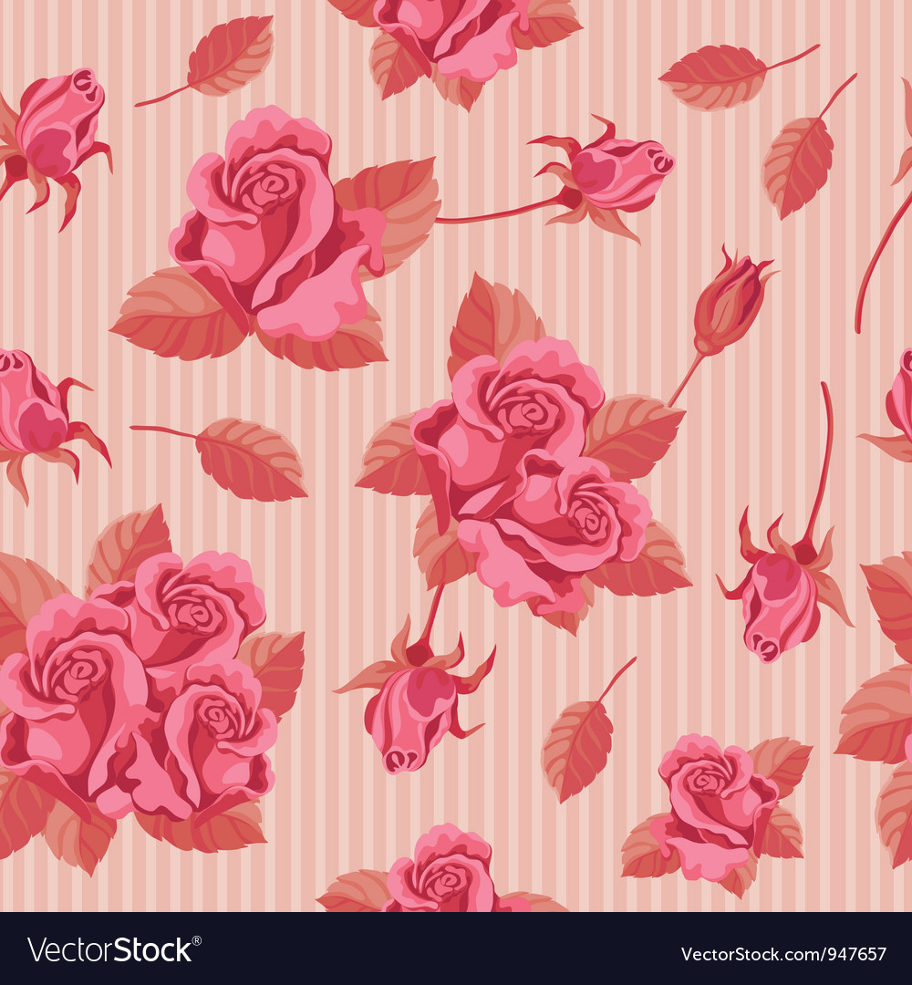 Seamless roses red vector | Price: 1 Credit (USD $1)