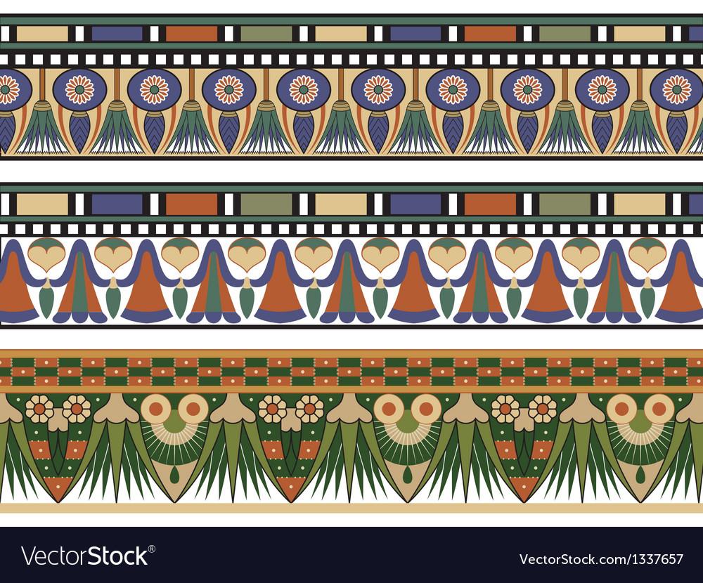 Set of three egyptian border vector | Price: 1 Credit (USD $1)