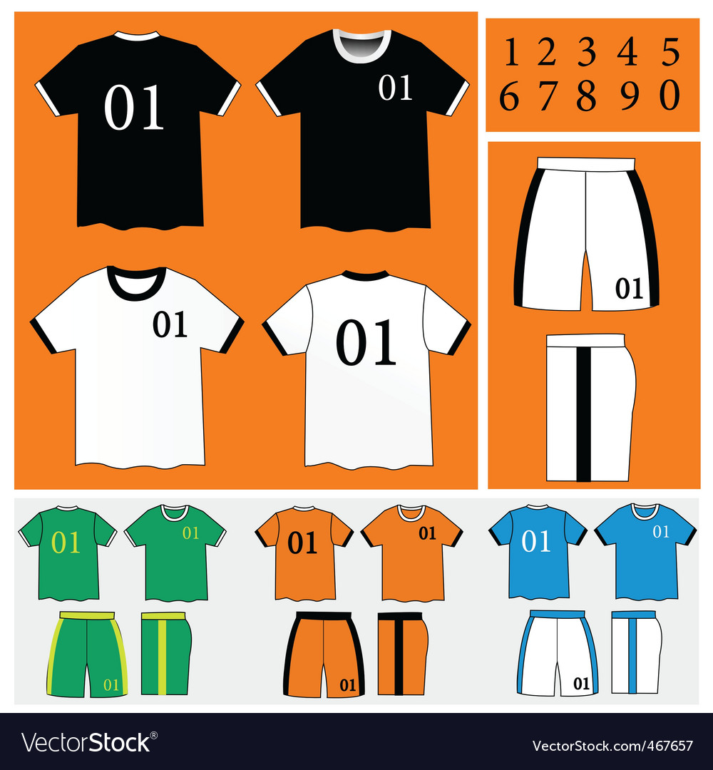 Soccer uniform vector | Price: 1 Credit (USD $1)