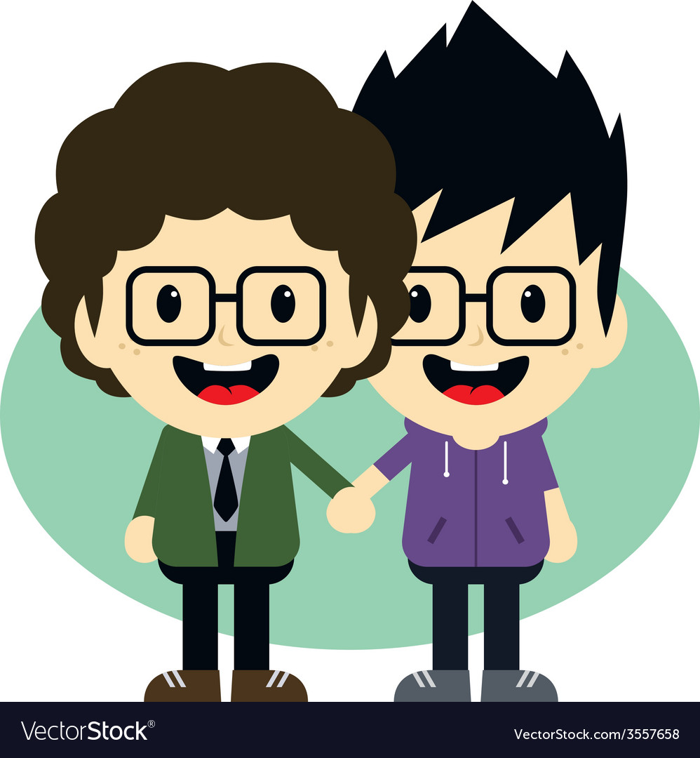 Adorable gay cartoon character vector | Price: 1 Credit (USD $1)