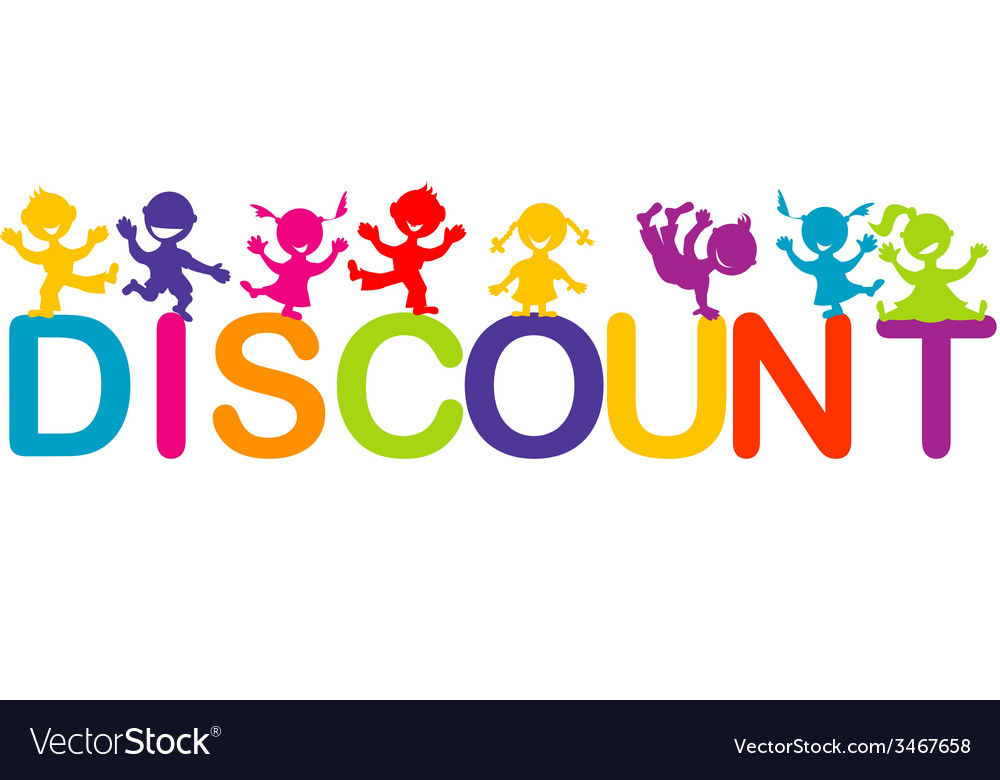 Children playing on discount word vector | Price: 1 Credit (USD $1)