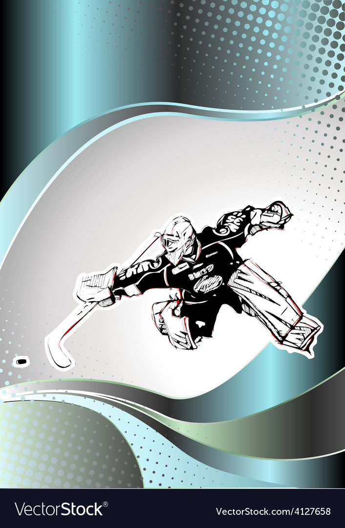 Chrome ice hockey poster background vector | Price: 3 Credit (USD $3)